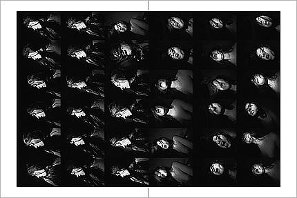 Double page du livre  Index d'Antoine d'Agata